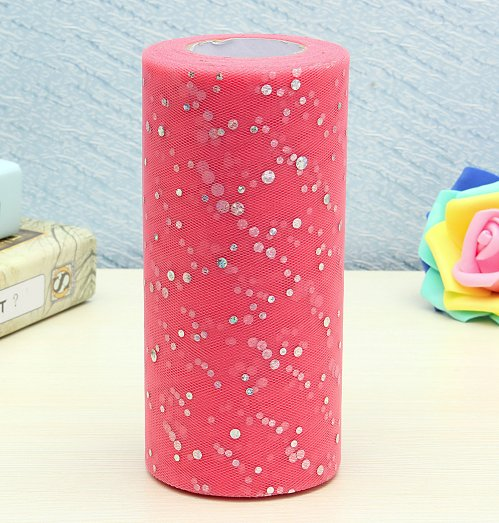"""6""""inch 25 yards tulle 1 roll,sequin"""