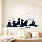 cute cat home decor wall sticker