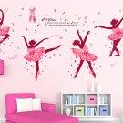 dancing girl ballet  home decor wall sticker