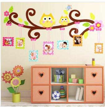 owl photo frame home decor wall sticker