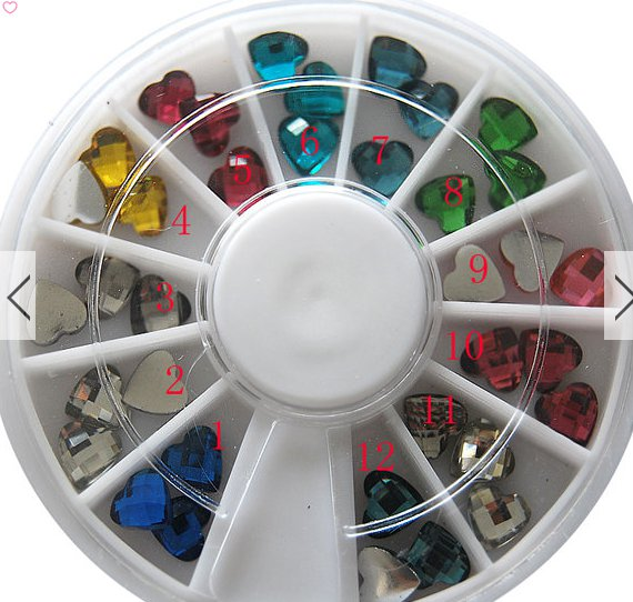 1 box wheel nail art decoration