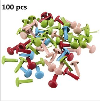 100pcs button metal brads