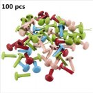 100pcs button metal brads