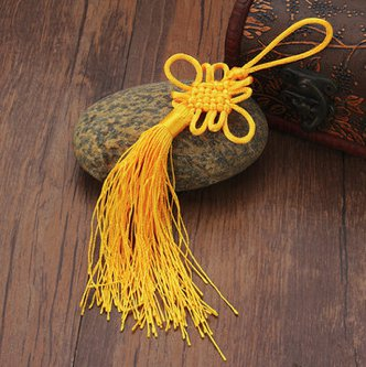 10pcs feng shui knot decoration party supplies yellow
