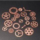 20pcs diy jewelry clock pendant charms gears