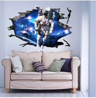 3D space WALL STICKER CHILDREN