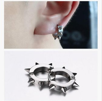 Stainless Steel Punk Earring