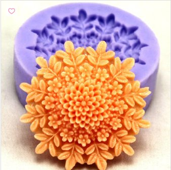 fashion women shape cookie cake flower silicone mold
