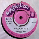 JUMBO 747 BAND 7&quot; rais iddi amin dada / africa ni yetu MELODICA 45 single