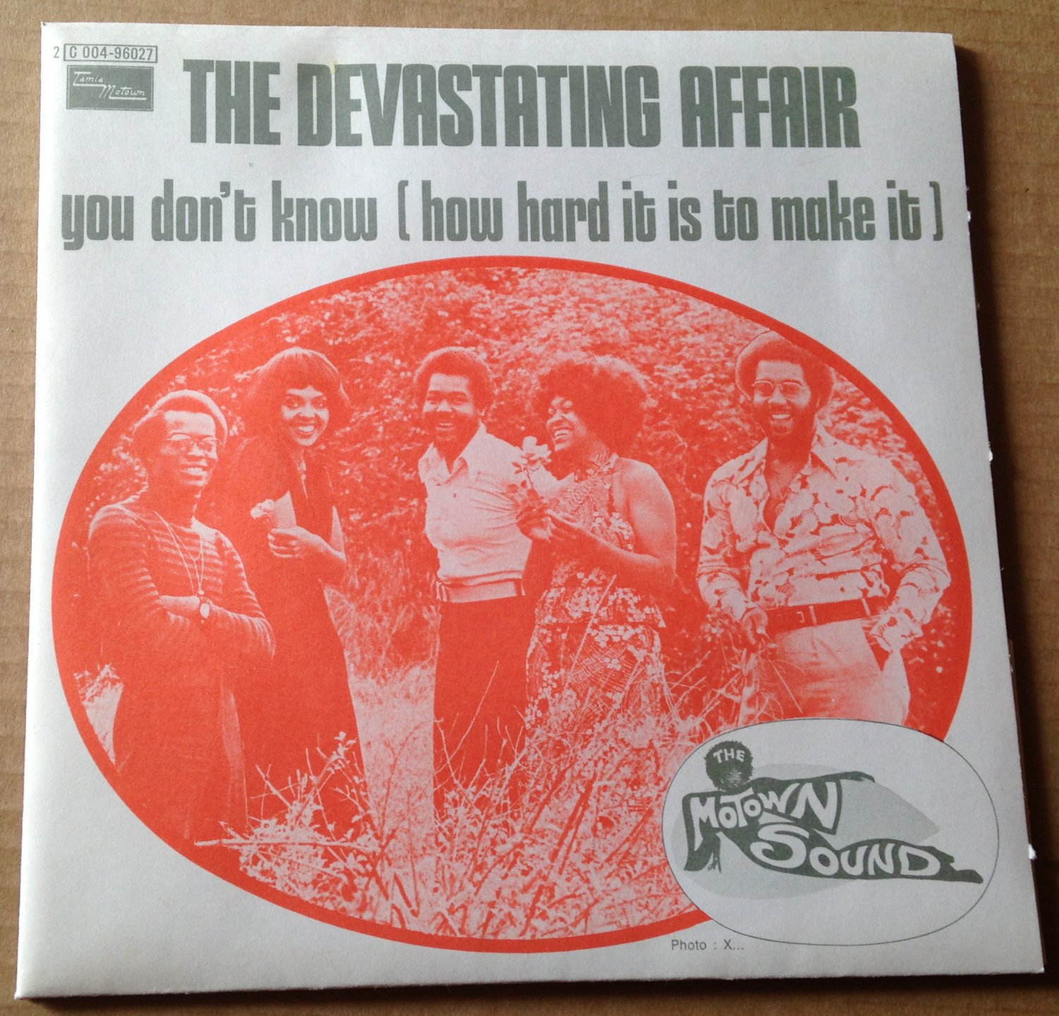 DEVASTATING AFFAIR 45 you don't know TAMLA MOTOWN NM PS FRENCH