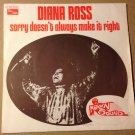 DIANA ROSS 45 sorry doesn't always make it right MOTOWN PS FR