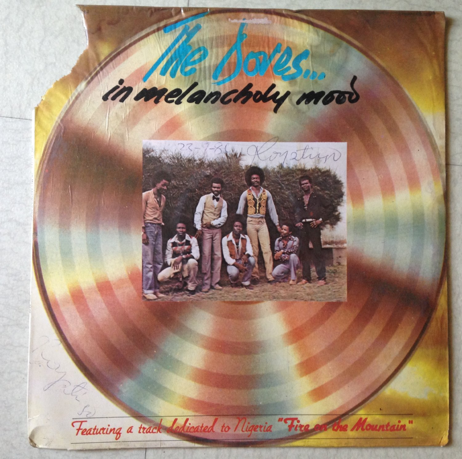 THE DOVES LP in melancholy mood NIGERIA