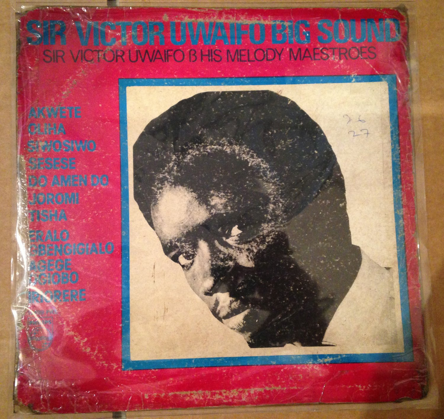 SIR VICTOR UWAIFO & HIS MELODY MAESTROES LP big sound HIGHLIFE NIGERIA mp3 LISTEN