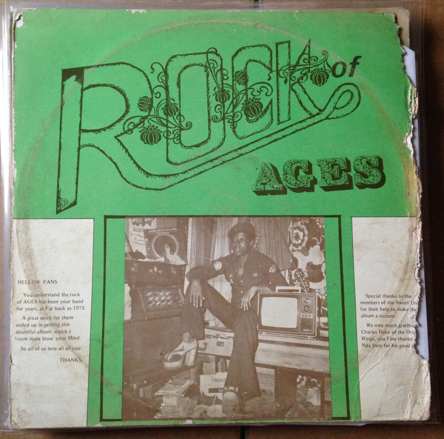 ROCK OF AGES LP let us unite AFRO PSYCH COSMIC mp3 LISTEN
