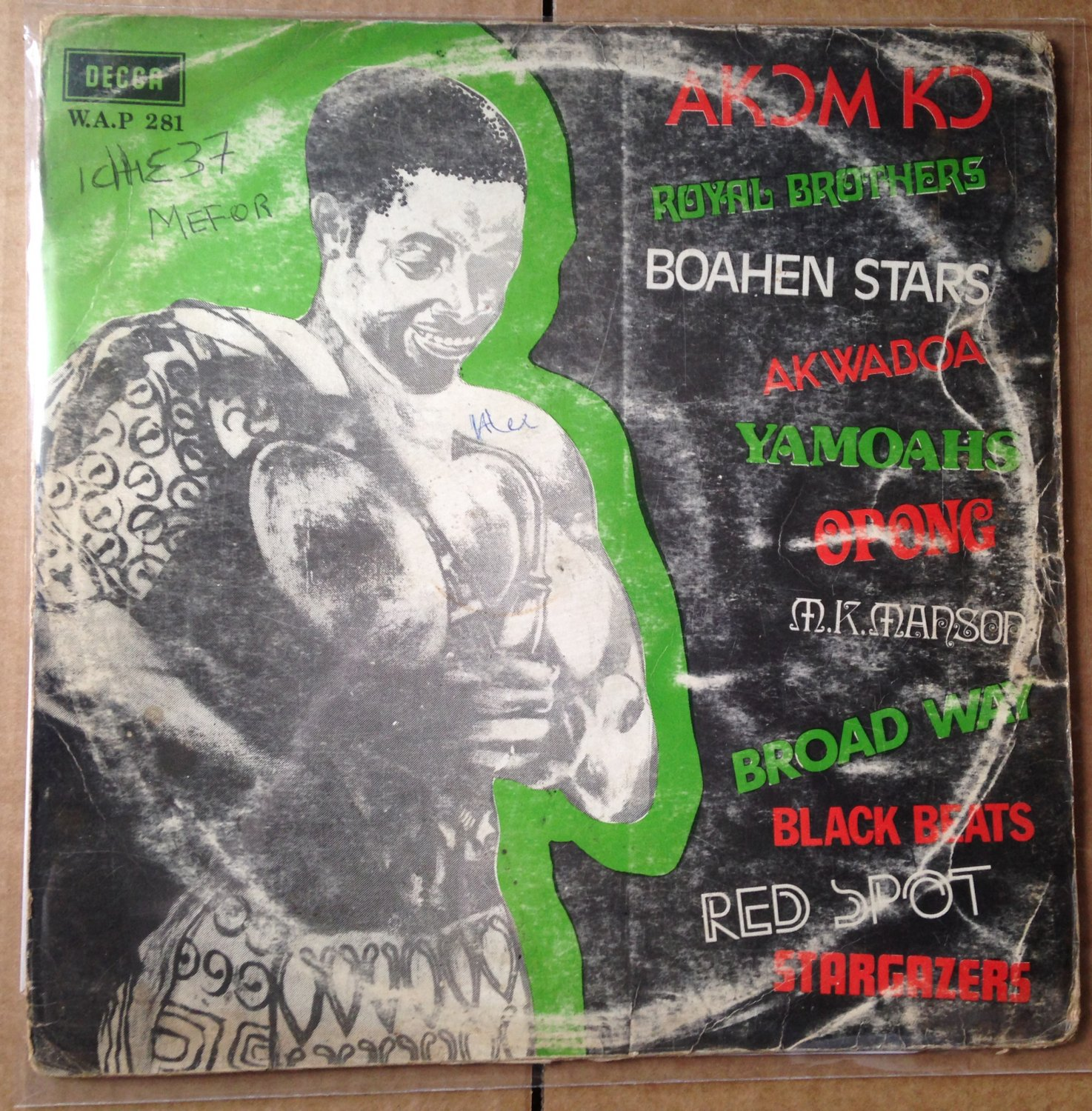 VARIOUS LP akomko GHANA HIGHLIFE DECCA mp3 LISTEN