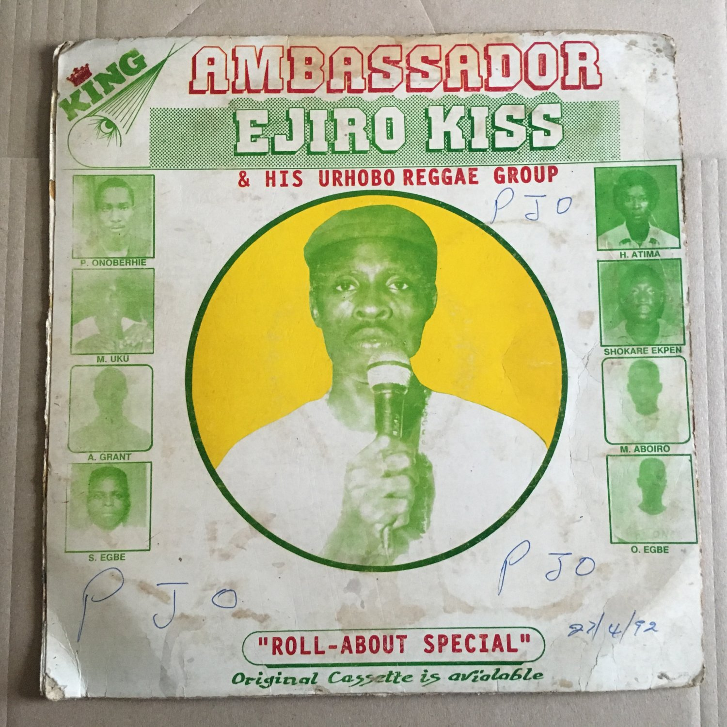 EJIRO KISS & HIS URHOBO REGGAE GROUP LP roll about special NIGERIA mp3 LISTEN