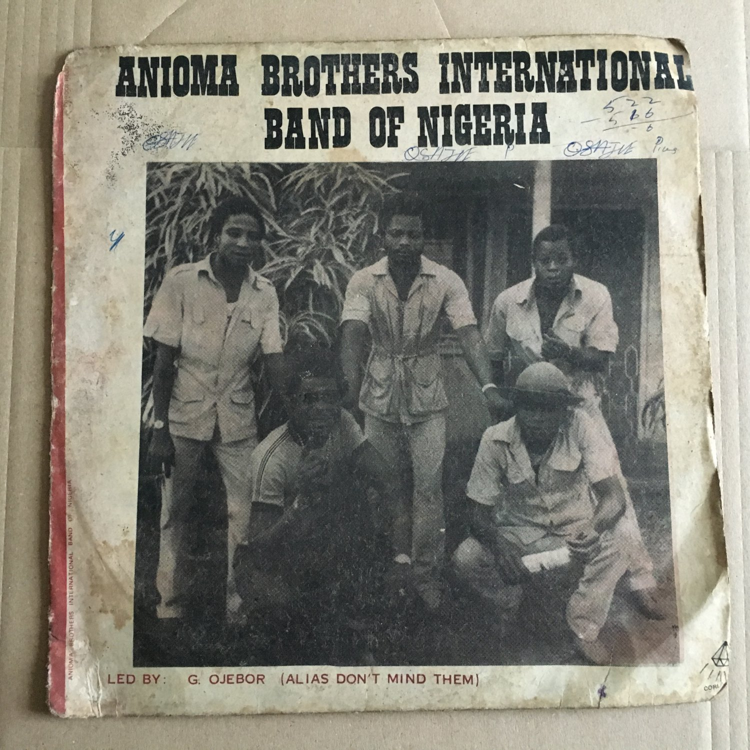 ANIOMA BROTHERS INT. BAND LP same NIGERIA mp3 LISTEN