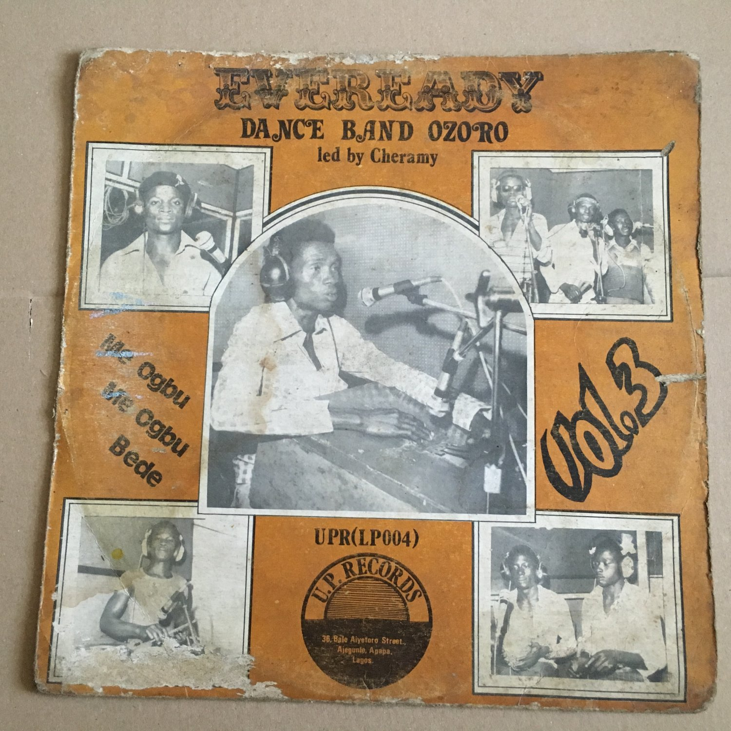 CHERAMY & HIS EVEREADY DANCE BAND OF OZORO LP vol. 3 NIGERIA mp3 LISTEN