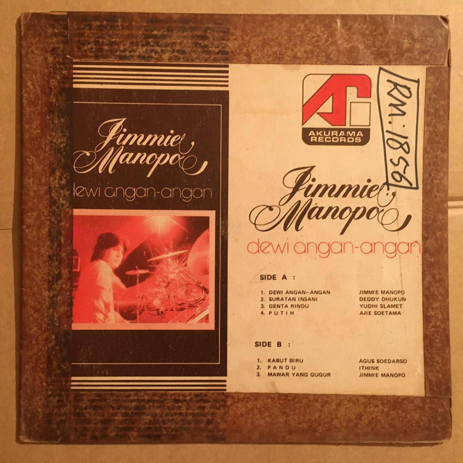 JIMMIE MANOPO LP dewi angan angan INDONESIA MODERN SOUL DISCO mp3 LISTEN