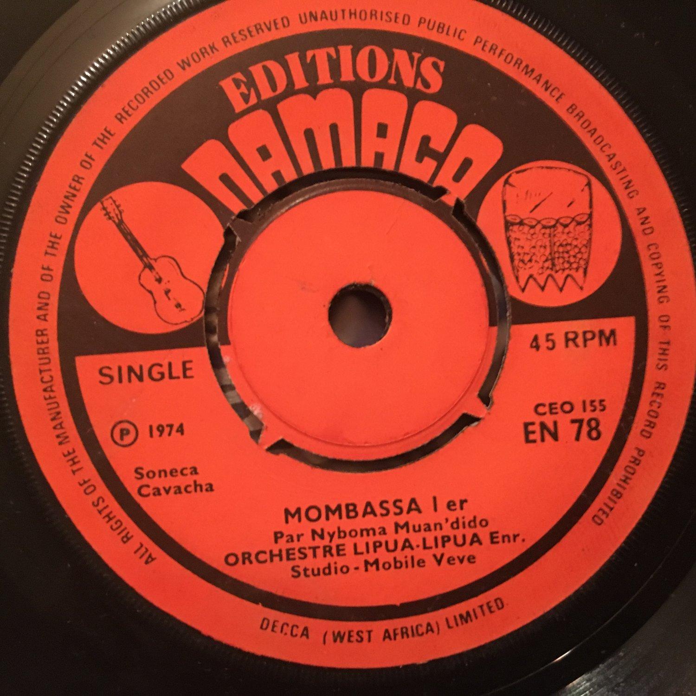 ORCHESTRE LIPUA LIPUA 45 mombasa pt 1 & 2 CONGO mp3 LISTEN EDITIONS NAMACO