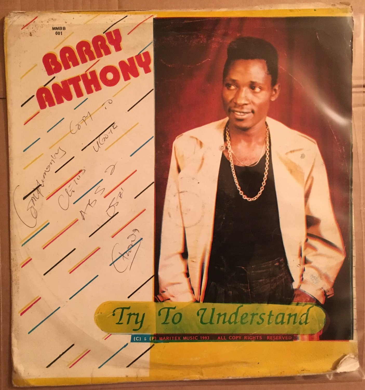 BARRY ANTHONY LP try to understand NIGERIA REGGAE SOCA POP mp3 LISTEN