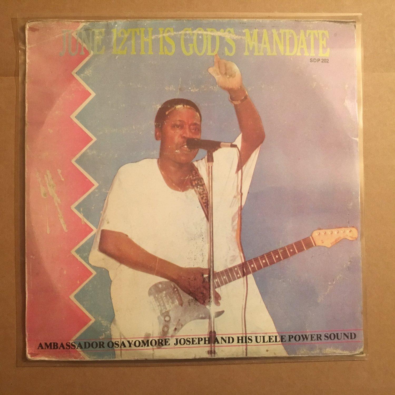 OSAYOMORE JOSEPH & HIS ULELE POWER SOUND LP june 12th NIGERIA EDO mp3 LISTEN