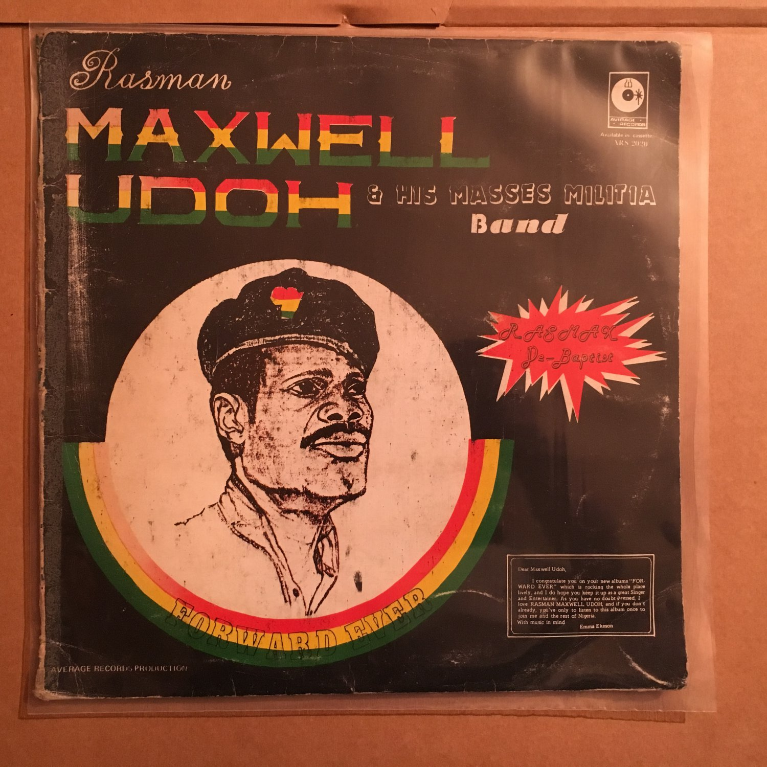 RASSMAN MAXWELL UDOH & HIS MASSES MILITIA BAND LP forward ever NIGERIA REGGAE mp3 LISTEN