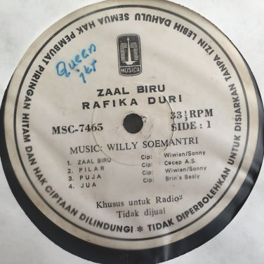 RAFIKA DURI LP zaal biru RARE INDONESIA POP SOUL JAZZ mp3 LISTEN