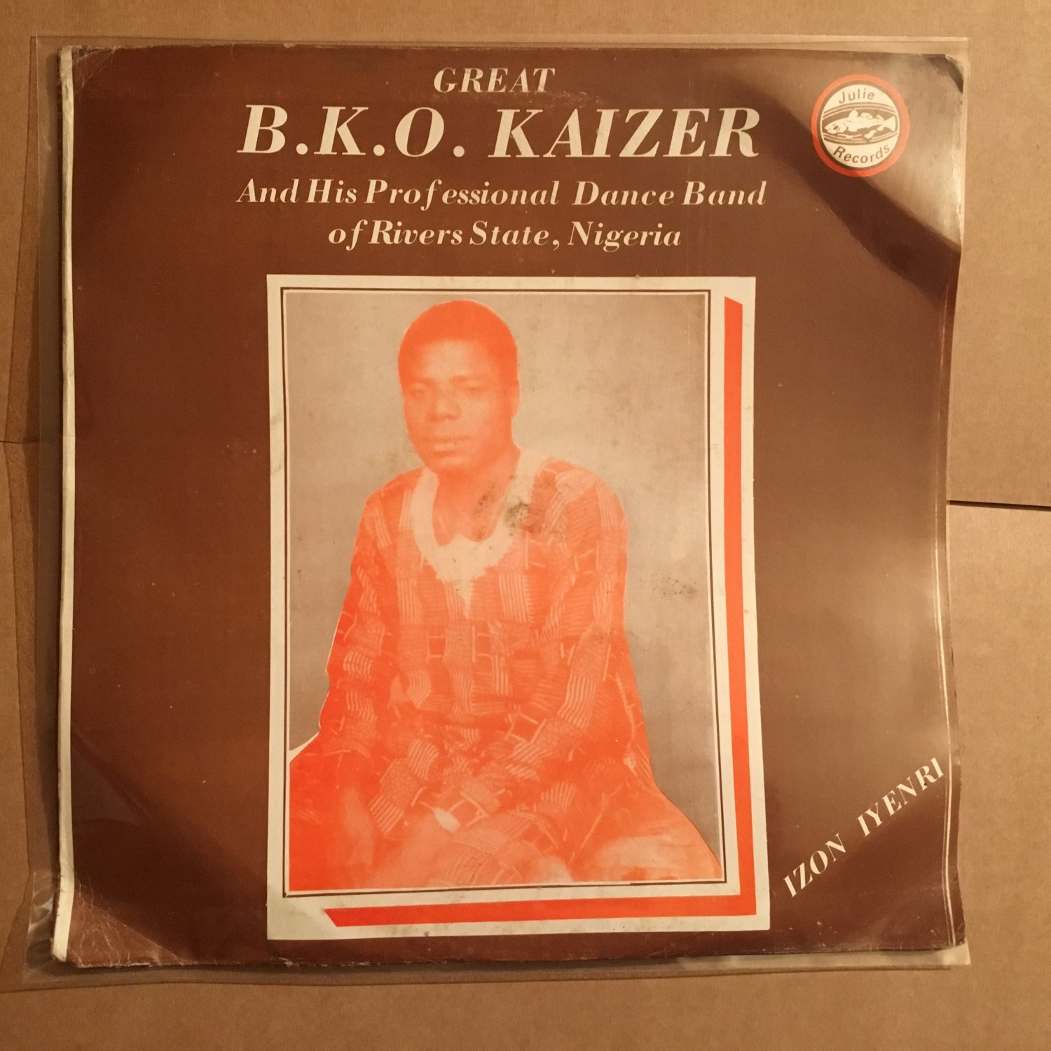 GREAT BKO KAIZER & HIS PROFESSIONAL DANCE BAND LP izon iyenri NIGERIA mp3 LISTEN