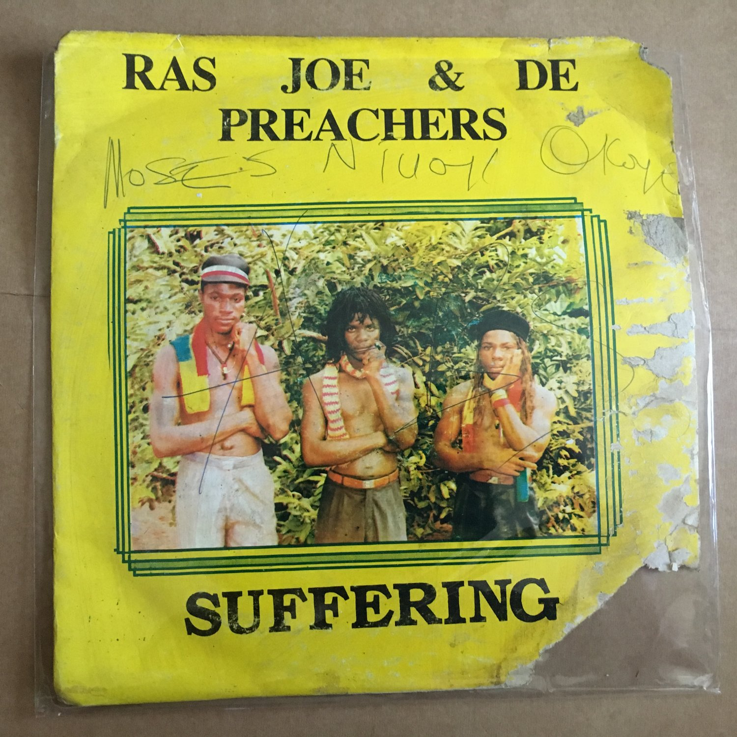 RAS JOE & THE PREACHERS LP suffering NIGERIA REGGAE mp3 LISTEN