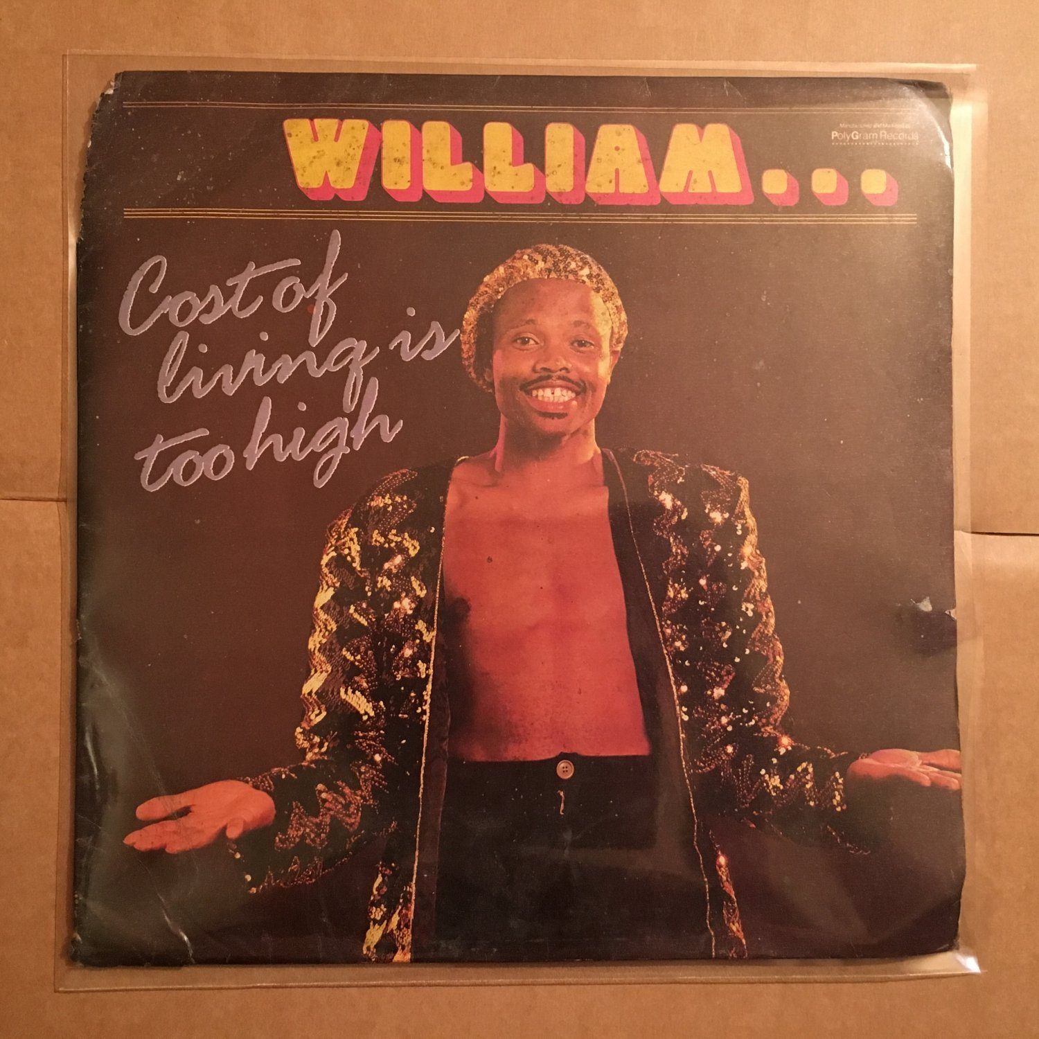 WILLIAM LP cost of living SOUTH AFRICA DISCO SYNTH FUNK mp3 LISTEN