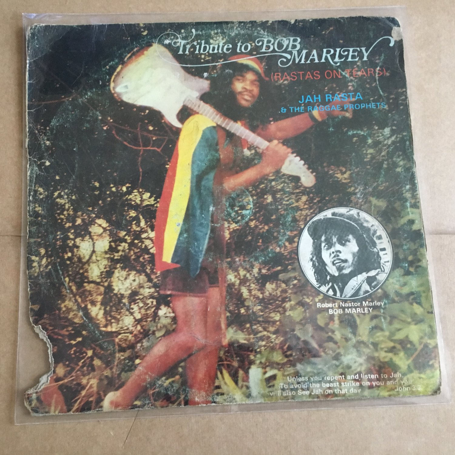 JAH RASTA & THE RAGGAE PROPHETS LP tribute to Bob Marley NIGERIA REGGAE