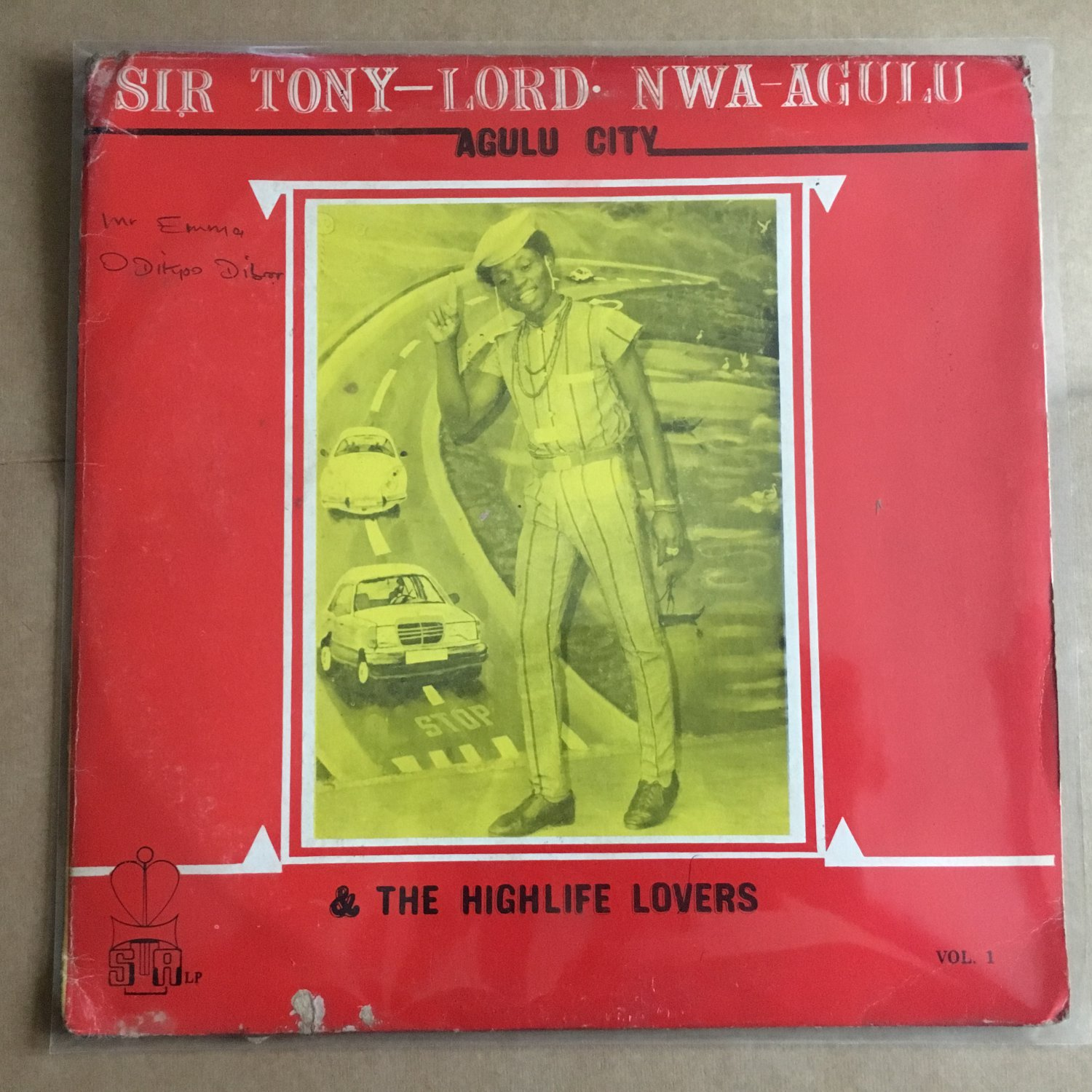 SIR TONY LORD NWA AGULU & THE HIGHLIFE LOVERS LP same NIGERIA mp3 LISTEN