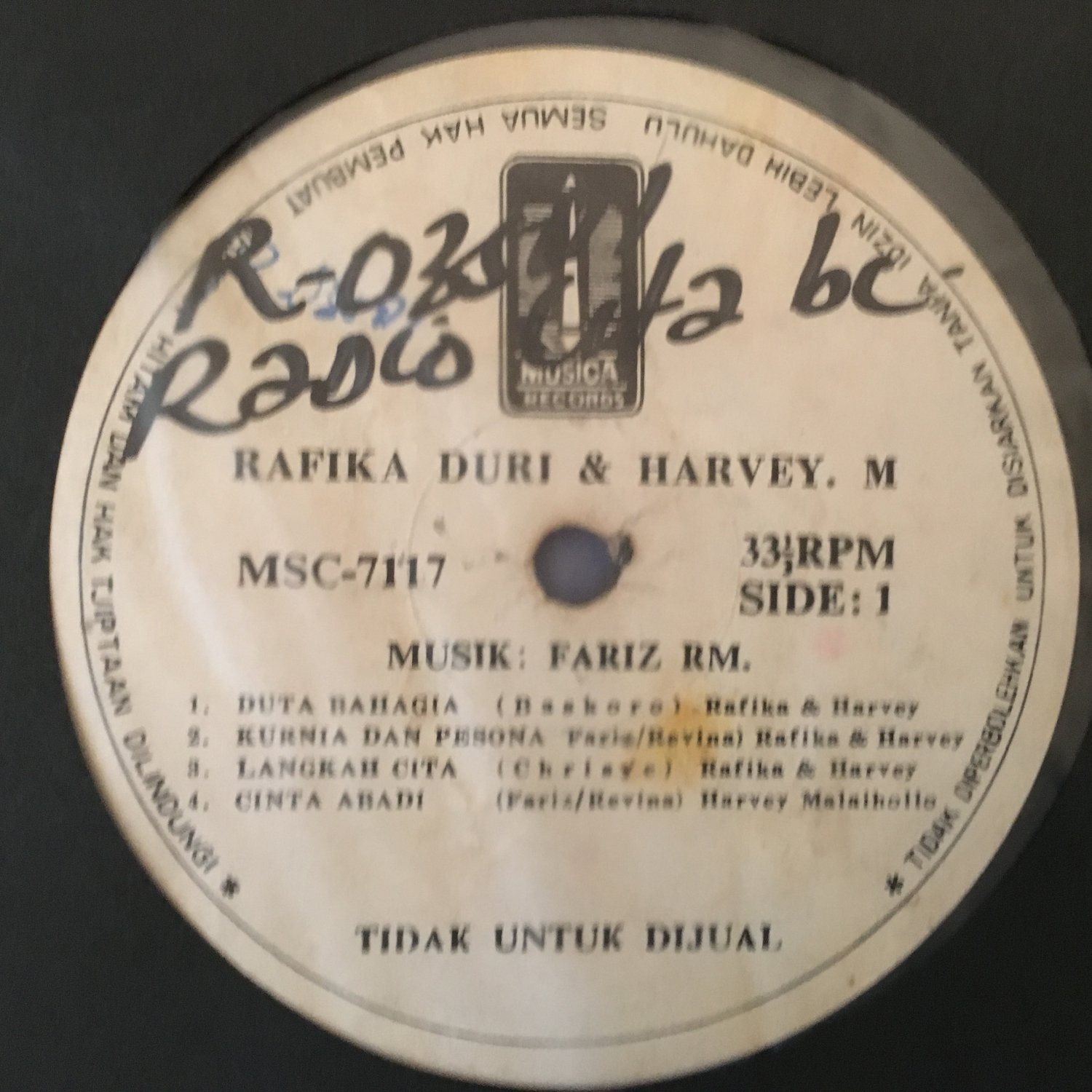 RAFIKA DURI & HARVEY M. LP same RARE INDONESIA FUNK FARIZ RM mp3 LISTEN