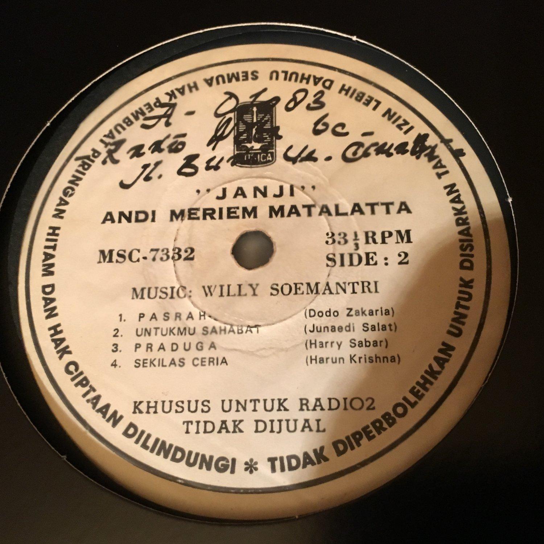 ANDI MERIEM MATTALATTA LP janji RARE INDONESIA FUNK BOSSA SOUL JAZZ mp3 LISTEN