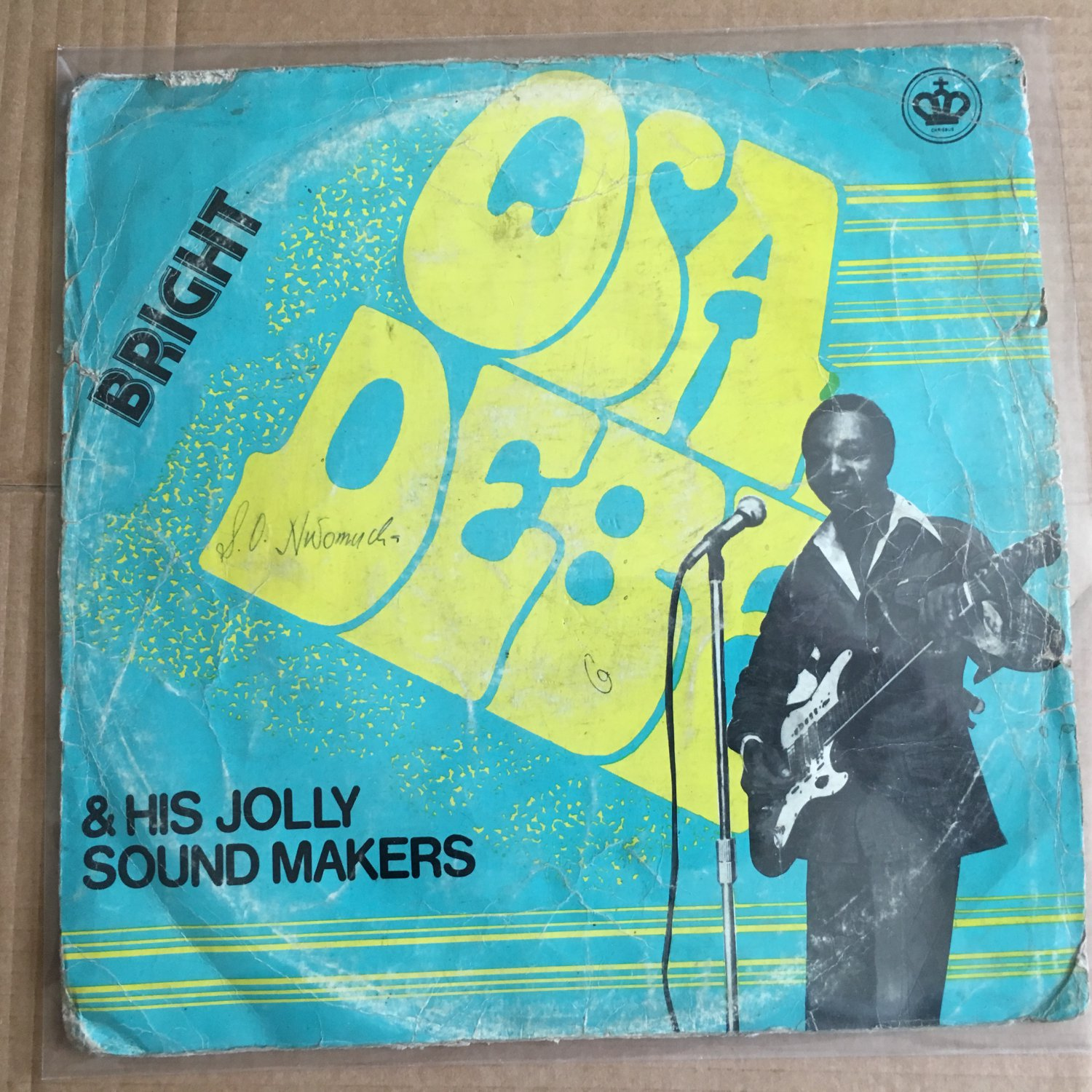 BRIGHT OSADEBE & HIS JOLLY SOUND MAKERS LP same NIGERIA HIGHLIFE mp3 LISTEN