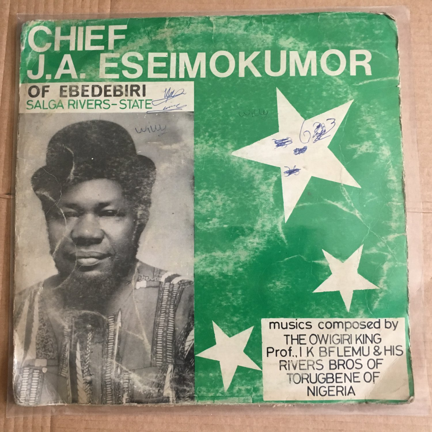 PROF IK BELEMU & HIS RIVERS BROS LP Chief JA Eseimokumor NIGERIA HIGHLIFE mp3 LISTEN