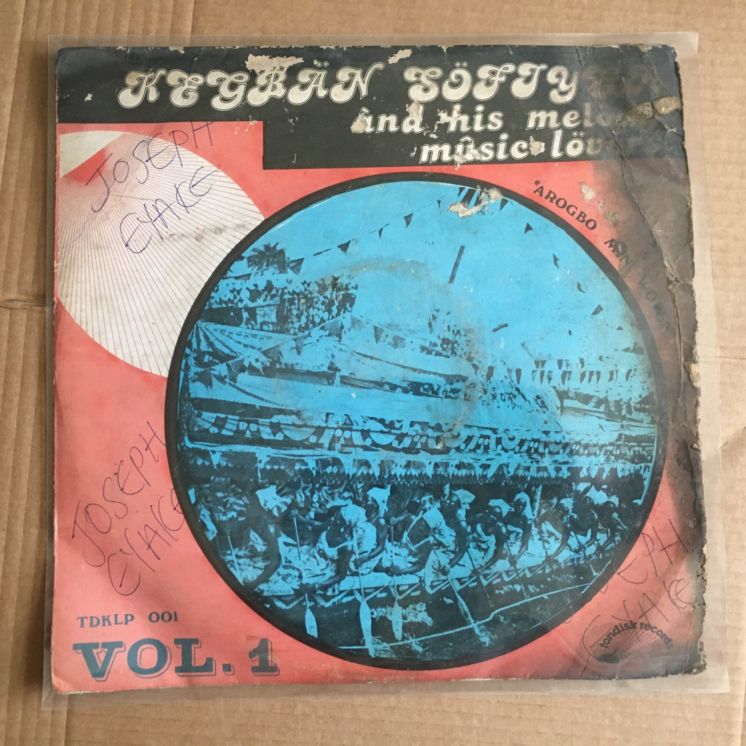 KEGBAN SOFIYEA & HIS MELODY MUSIC LOVERS LP vol. 1 NIGERIA HIGHLIFE mp3 LISTEN