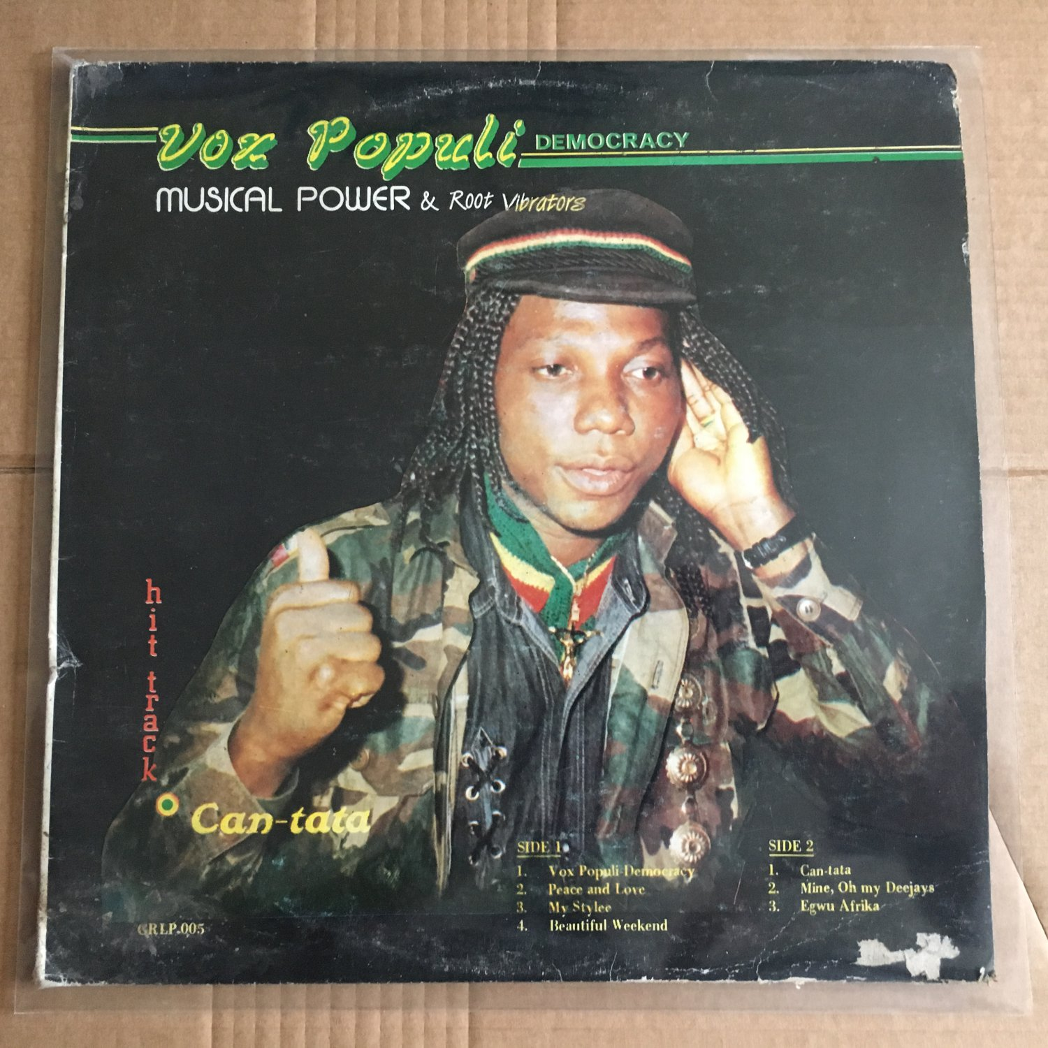 MUSICAL ROOTS & ROOT VIBRATORS LP vox populi democracy NIGERIA REGGAE mp3 LISTEN
