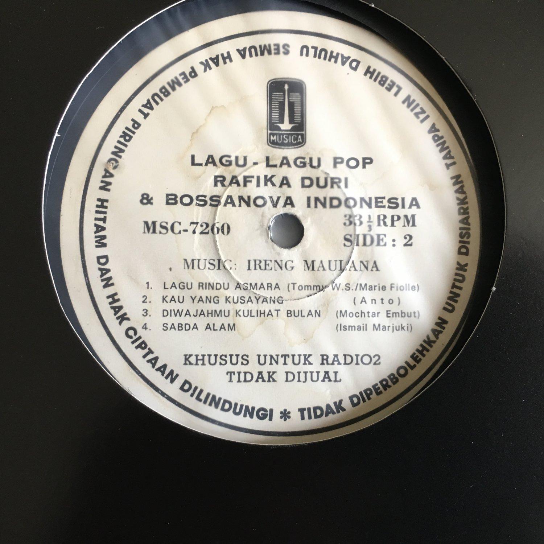 RAFIKA DURI LP lagu2 pop & bossa nova  IRENG MAULANA INDONESIA JAZZ BOSSA mp3 LISTEN
