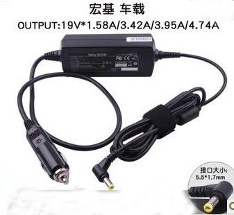 19V 1.58A /3.42A/4.74A DC Power Supply Car Charger Adapter For Acer AS4730 5520G 5570 A4736G