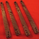 Exiled Cutlery 15n20 Solid Damascus Handles for T Latch Models