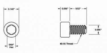 Silver 2-56 Thread 5/32 Screws for Handle Standoffs x10