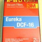 Eureka DCF-16 HEPA Vacuum Filter 3M Filtrete Fits Eureka 2950 2960 2990 2pk
