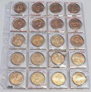 x18 President & First Lady Lot 18 Commemorative Token Coins Clinton Bush Set