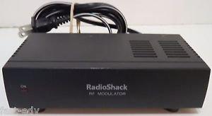 Radio Shack RF Modulator 15-1244 TV Convert A/V Coaxial Cable AC Adapter Include