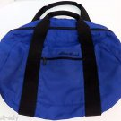 Eddie Bauer Royal Navy Blue & Black Small/Medium Nylon Duffle Bag Vintage 20""