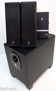 Logitech X-240 Computer PC Speaker Multimedia Sound 2.1 Satellite+Subwoofer Remt