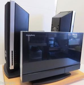 iSymphony Wireless Music System W2C 2 Speakers & 1 AC Adapter (No remote) Needs