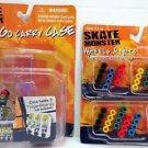 x3 Skate Monster LOT =  x1 Carry Case + x2 Wheels & Nuts Tech Deck Fingerboard !
